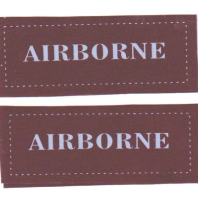 British Army Airborne WW2 shoulder Titles a pair