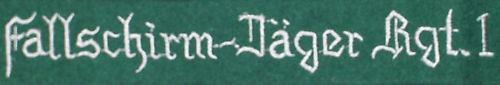 Fallschirm-jager Regt 1 Wool Cuff Title