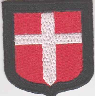 GERMAN ARMY DENMARK VOLUNTEERS SLEEVE SHIELD