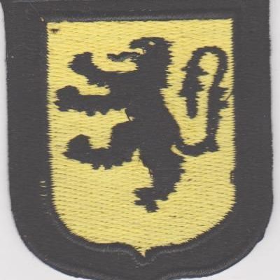 GERMAN ARMY FLEMISH VOLUNTEERS SLEEVE SHIELD PATCH