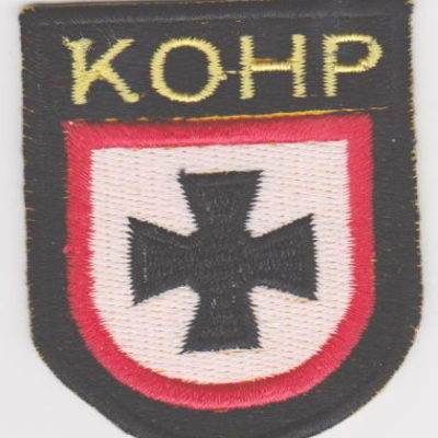 GERMAN ARMY KOHP VOLUNTEERS SLEEVE SHIELD