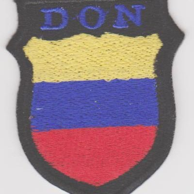 GERMAN ARMY RUSSIAN DON COSSACKS VOLUNTEERS SLEEVE SHIELD PATCH