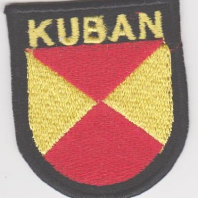 GERMAN ARMY RUSSIAN KUBAN VOLUNTEERS SLEEVE SHIELD