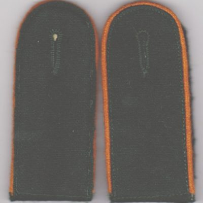 German Army WW2 feldgendarmerie Shoulder Boards Bottle Green