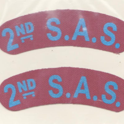 British SAS 2nd Shoulder Titles a Pair