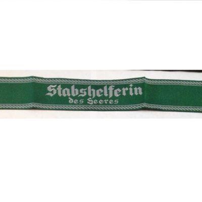 German STABS HELFERIN DES HEERES CUFF TITLE in BEVO
