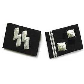 SS Hauptscharfuhrer Collar Tabs