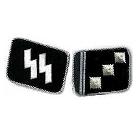 SS Obersturmführer Collar Tabs