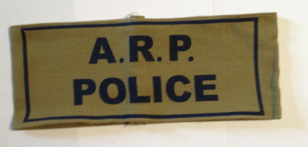 BRITISH AIR RAID PRECAUTIONS POLICE ARMBAND WW2