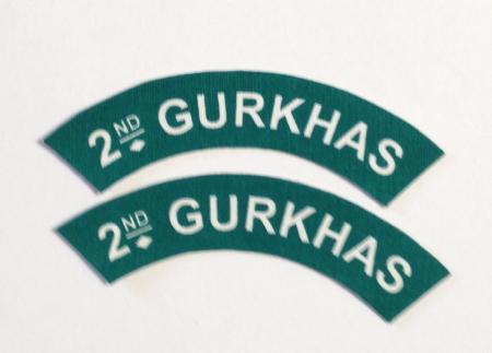 British Army 2nd Gurkhas shoulder patches