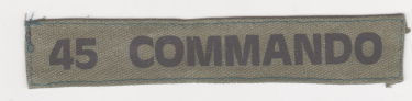 British Army 45 Commando ID Unifom Tag