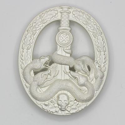 German Anti-Partisan War Badge in Silver