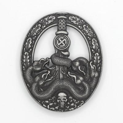 German Anti-Partisan War Badge in Silver (Antique Finish)