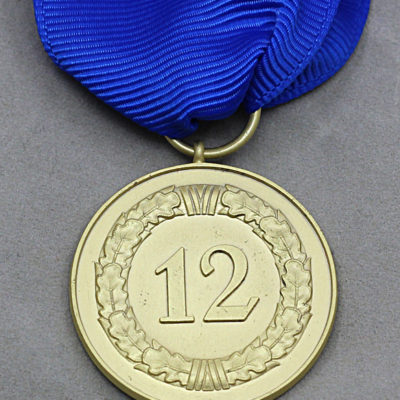 GERMAN ARMY 1957 Issue 12 Year Service medal reverse