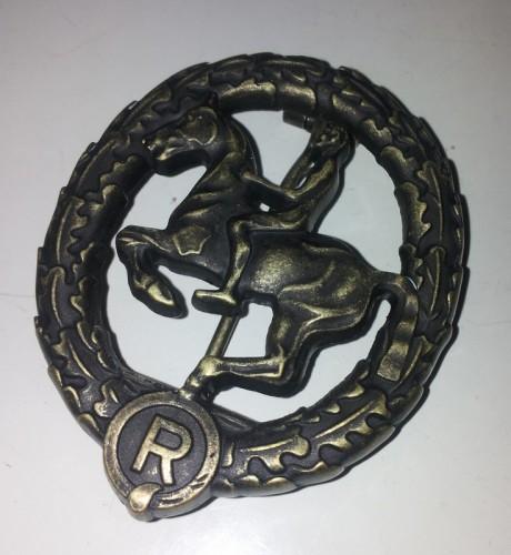 German Horseman's Badge in Bronze
