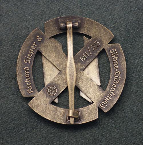 SS Proficiency Sport Badge in Bronze reverse