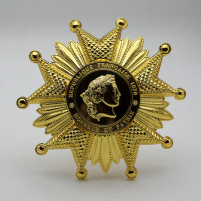 French Legion of Honor Breast Star in Gold FRENCH LEGION D`HONNEUR
