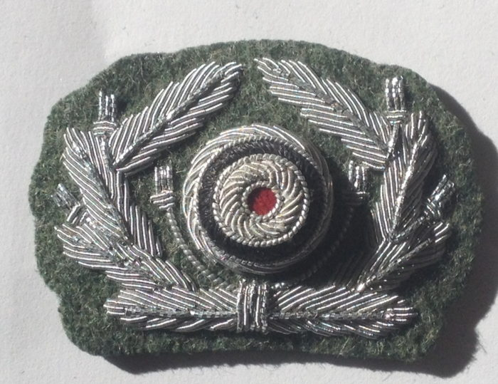 German Army officers cap wreath and cockade