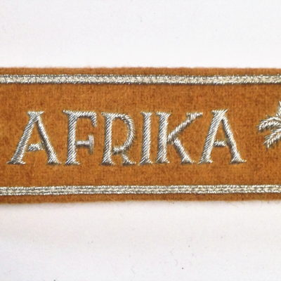 German Army AFRIKA officers cuff title