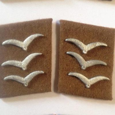 German Luftwaffe SIGNALS OBERGEFREITER Collar tabs