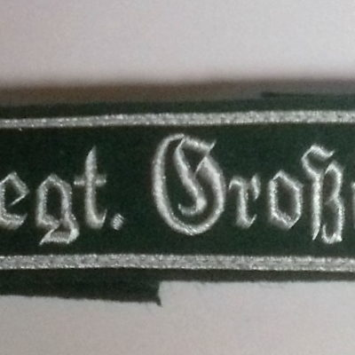 German army Inf Regt Gross Deutschland cuff title