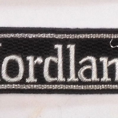 WAFFEN SS OFFICERS NORDLAND CUFF TITLE