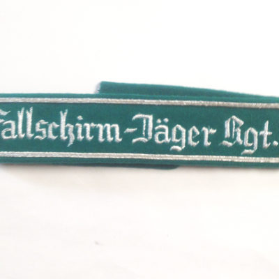 German Army FALLSCHIRMJAGER REGT 1 CUFF TITLE