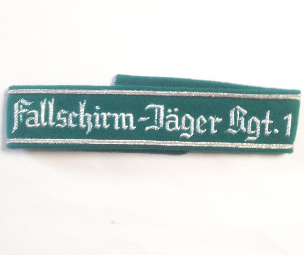 German Army FALLSCHIRMJAGER REGT 1 CUFF TITLE