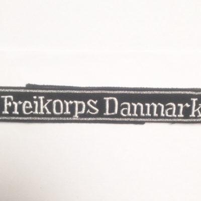 WAFFEN SS OFFICERS FREIKORPS DANMARK cuff title