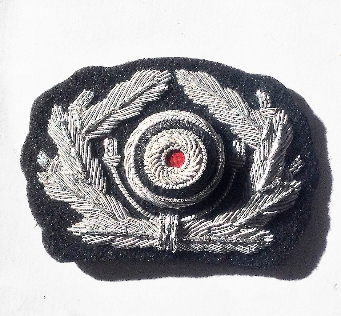 German Panzer officers cap wreath and cockade