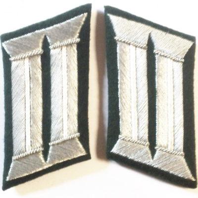 WW2 GERMAN ARMY OFFICER COLLAR TABS INFANTRY PATTERN PAIR