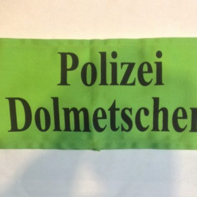 German ww2 POLIZEI DOLMETSCHER ARMBAND INTERPRETER